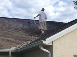 Roof Clean Before